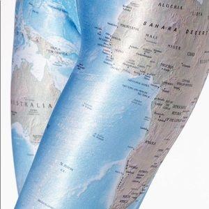 """Blackmilk - """"World Maps"""" Leggings - S"""